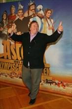 """Gérard Depardieu, photocall pour la présentation du film """"Astérix aux Jeux Olympiques"""" à Münich"""