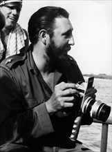Fidel Castro during a visit to the Bay of Pigs, 1962