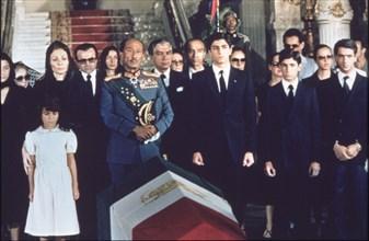 Les funérailles de Mohammed Reza Shah Pahlavi,   1980, Le Caire