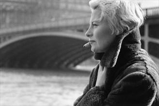 Michèle Morgan, à Paris