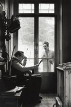 Arletty et Louis-Ferdinand Céline (14 avril 1958)