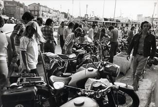 Rassemblement de motos à Saint-Tropez