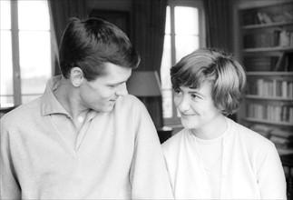 Françoise Sagan et son mari