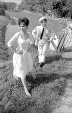 Jean-Paul Belmondo et Pascale Petit