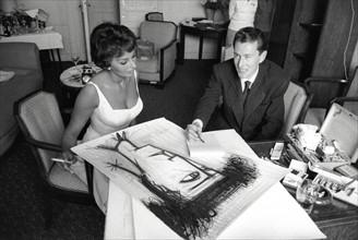 Bernard Buffet et Sophia Loren