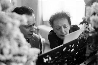 Edith Piaf et Charles Dumont