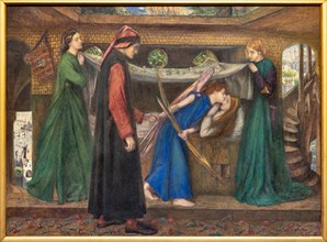 """Rossetti, """"Dante's Dream at the time of Beatrice's Death"""""""
