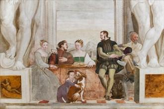 Caldogno, Villa Caldogno, main hall