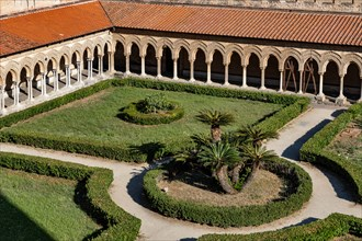 Monreale, Duomo, cloister of the Benedictine monastery: view of the cloister