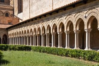 Monreale, Duomo, cloister of the Benedictine monastery