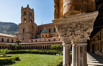 Monreale, Duomo: view of the bell tower of the cathedral