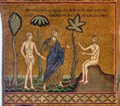 """Monreale, Duomo: """"God introduces Eve to Adam"""""""