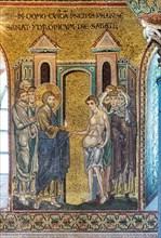 "Monreale, Duomo: ""Healing of the dropsical man"""