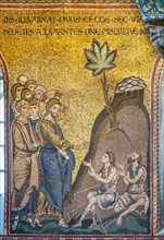"""Monreale, Duomo: """"Healing of two blind people"""""""