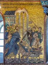 """Monreale, Duomo: """"Christ driving the Merchants from the Temple"""""""