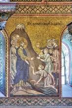"Monreale, Duomo: ""Jesus healing blind men and cripples"""