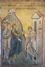 """Monreale, Duomo: """"The Miracle of the Healing of the leprous man"""""""