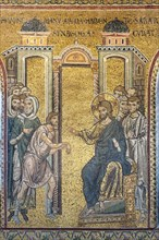 """Monreale, Duomo: """"The Miracle of the man with a dried up hand"""""""