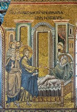 """Monreale, Duomo: """"Jesus healing Simon's mother in law from fever"""""""