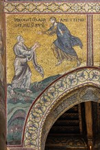 "Monreale, Duomo: ""The Lord orders Abraham to sacrifice Isaac"""