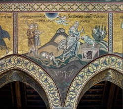 "Monreale, Duomo: ""Sacrifice of Isaac (Stop, Abraham"")"