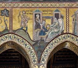 "Monreale, Duomo: ""Isaac blesses Jacob"""