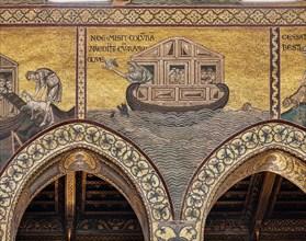"Monreale, Duomo: ""Noah has the animals loaded onto the Ark"""
