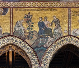 """Monreale, Duomo: """"The drunkenness of Noah"""""""