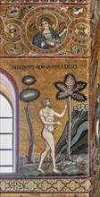 """Monreale, Duomo: """"Adam rests in the Earthly Paradise"""""""