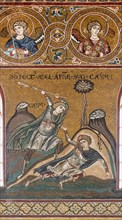 """Monreale, Duomo: """"Abel is killed by Cain"""""""