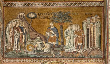 "Monreale, Duomo: ""St. Paul's beheading in Rome"""