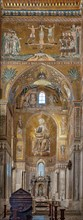 Monreale, Duomo: view of the transept and the Southern apse with St. Peter's stories