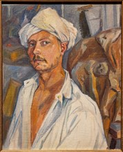 Larionov, 'Self-portrait wearing a Turban'