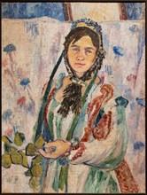 Goncharova, 'Self-portrait in a period costume'
