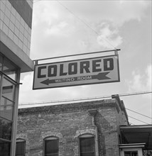 Segregation Sign at Greyhound Bus Terminal on Trip from Louisville, 1943