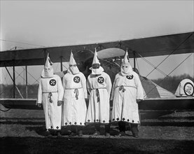 Hooded Ku Klux Klan Members, Washington DC, USA, National Photo Company, 1922