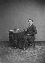 Thomas Edison, Portrait, Brady-Handy Collection, Portrait, circa 1875