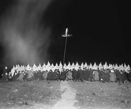 Ku Klux Klan Meeting at Night, Washington DC, USA, National Photo Company, June 1922
