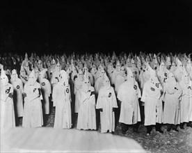 Ku Klux Klan Meeting at Night, near Washington DC, USA, National Photo Company, March 1922