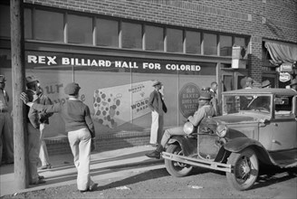 Rex Billiard Hall for Colored, Beale Street, Memphis, Tennessee, USA, Marion Post Wolcott, Farm Security Administration, October 1939