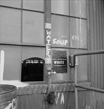 "Drinking Fountain Marked ""White"", Bethlehem-Fairfield Shipyards, Baltimore Maryland, USA, Arthur S. Siegel, Office of War Information, May 1943"