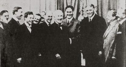Motion Picture Patents Company, Albert Smith, George Scull, George Kleine, Thomas A. Edison, Siegmund Lubin, H.N. Marvin, J. Stuart Blackton, Frank Marion, Portrait, December 19,1908