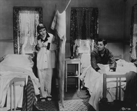 Clark Gable and Claudette Colbert, On-Set of the Film, It Happened One Night, 1934
