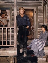 """Robert Redford, Katherine Ross and Paul Newman, On-Set of the Film, """"Butch Cassidy and the Sundance Kid"""", 1969"""