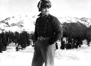 """Clark Gable, on-set of the Film, """"Call of the Wild"""" directed by William A. Wellman, 1935"""