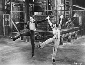 "Richard Beymer, Natalie Wood, on-set of the Film, ""West Side Story"", 1961"