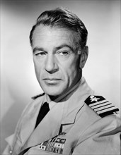 """Gary Cooper, Publicity Portrait for the Film, """"The Court-Martial of Billy Mitchell"""", 1955"""