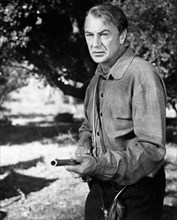"""Gary Cooper, on-set of the Film, """"Friendly Persuasion"""", 1956"""