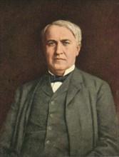 Thomas Alva Edison (1847-1931), American Inventor, Portrait, Postcard, circa, 1910's