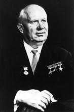Nikita Khrushchev (1894-1971), Russian Politician, First Secretary of the Communist Party of the Soviet Union, Portrait, circa 1963